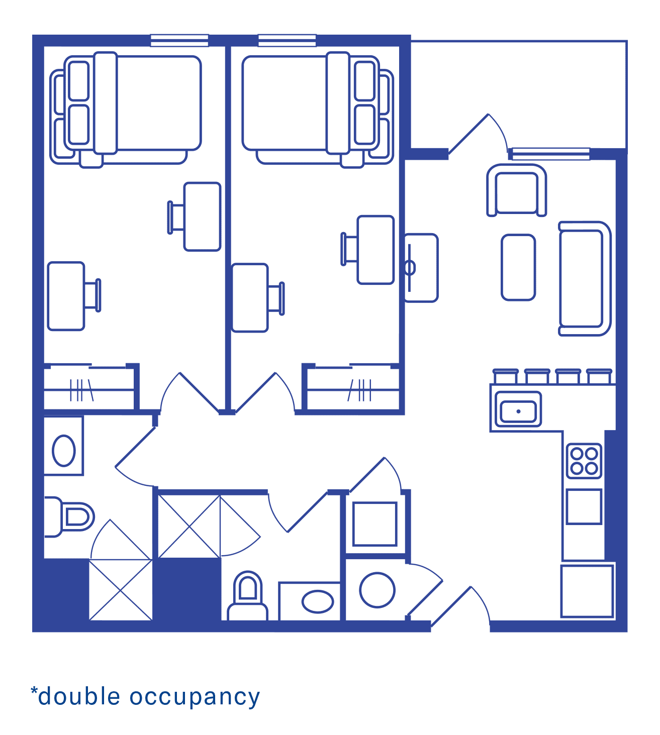 2 Bedroom Floorplan 2