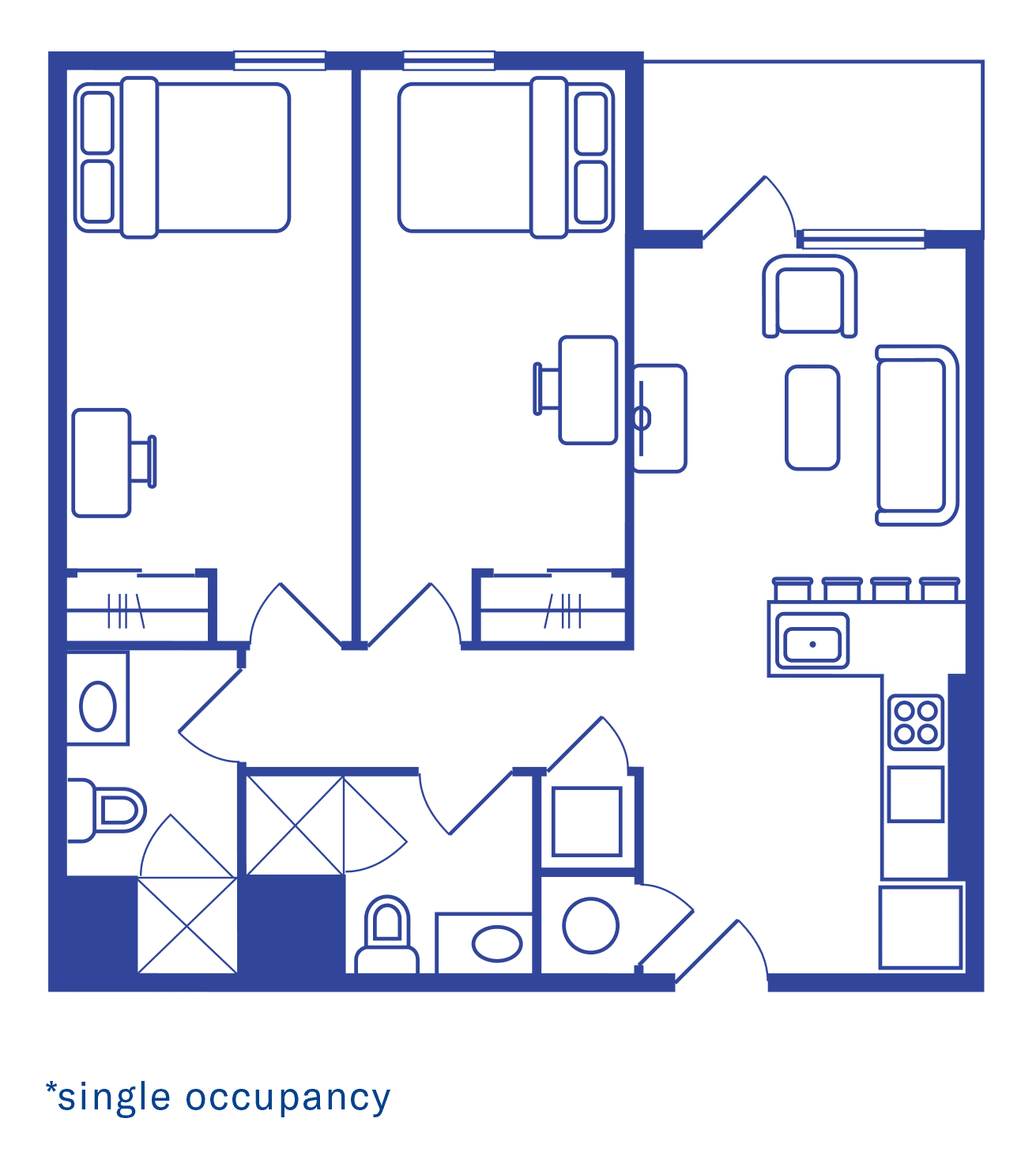 2 Bedroom Floorplan 3